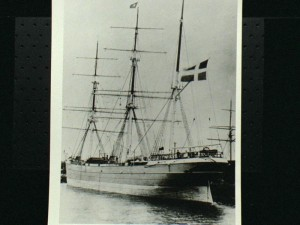 de bark Ellen (ex Martina Johanna) in de haven van Pensacola