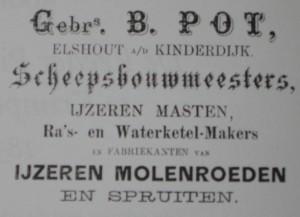 advertentie scheepswerf Gebroeders Pot