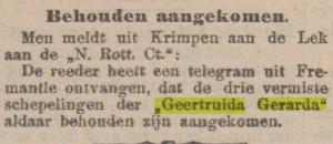"""berichtje in """"De Tijd"""" van 22 mei 1902"""