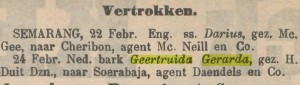 """bericht in """"De Locomotief"""", 24 febr. 1902"""