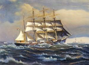 Geertruida Gerarda naar een schilderij van de scheepsschilder C.A.de Vries