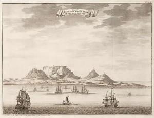 kapt. Kuipers nam de moeilijke beslissing om rond Kaap de Goede Hoop te varen..