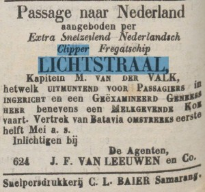 berichtje in Samarangsch Handelsblad, 9 april 1880