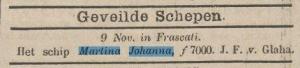 """uit """"De kleine Courant""""11-11-1885"""