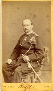 """majoor L.W.A.Kessler voer in 1870 met de """"Antje"""" naar Batavia"""