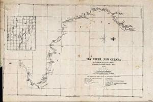 kaart van Fly River uit 1876