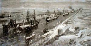 het Suezkanaal ten tijde van de opening