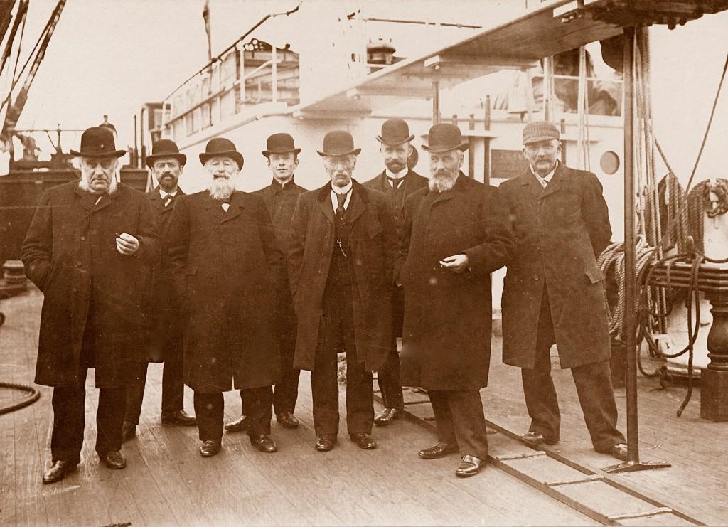 10z G.Gerarda,20-4-1905,vlak voor de maiden voyage, Jan Smit,Van Halewijn,Kees Smit,H.v.d.Horst v.Hil jr,Pieter,Frits Smit jr,Hendrik Smit,kapt.Joh.Kuypers