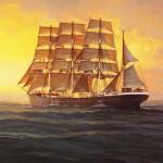 kaart met afbeelding van de Jeannette Francoise, te koop in het Maritiem Museum in Rotterdam (origineel is een schilderij van scheepsschilder C.A. de Vries)