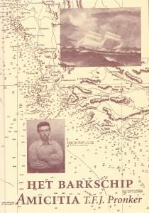 """voorkant boek """"Het barkschip Amicitia"""""""