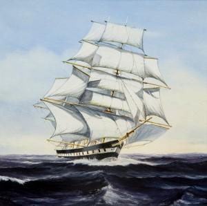 Lichtstraal, geschilderd door J.Boerman