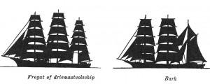 verschil Bark Fregat