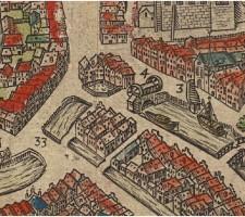 Donkere Sluis te Gouda, rond 1580