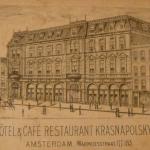 Krasnapolsky als koffiehuis rond 1860