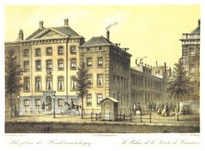 Hofdijk, het gebouw van de N.H.M. rond 1860