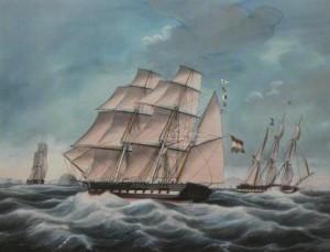 """de """"Padang"""" geschilderd door Jacob Spin"""