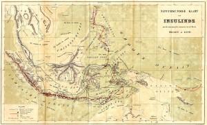 kaart van Insulinde uit 1869