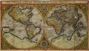 kaart van Plancius, 1590